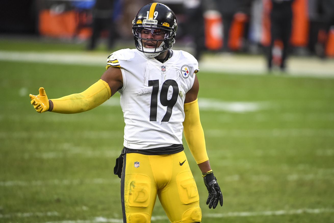 JuJu Smith-Schuster's one-year deal is a small 2021 cap hit due to void years