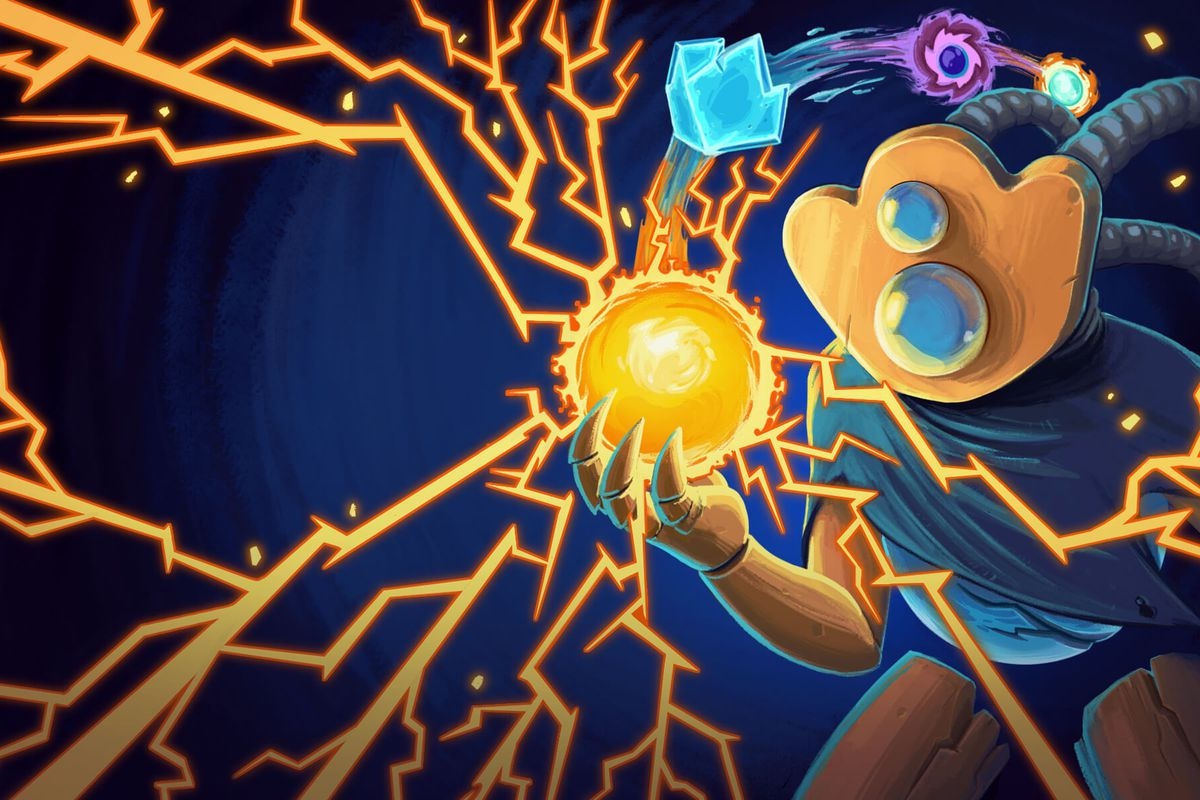 Slay the Spire - a robot surrounded by electricity