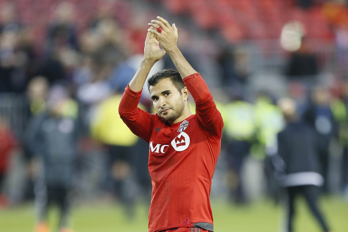 """Toronto's Steven Beitashour is all like """"bro, nice job on the return to Hot Time"""" except of course he doesn't know me or read Hot Time so this is just a fantasy based upon the first photo in my feed."""