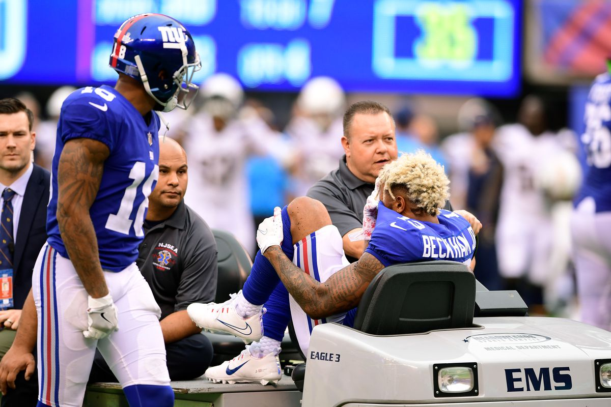 Odell beckham injury giants wide receiver officially out for season photo by steven ryangetty images odell beckham jr m4hsunfo