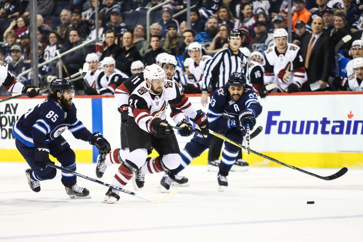 NHL: Arizona Coyotes at Winnipeg Jets