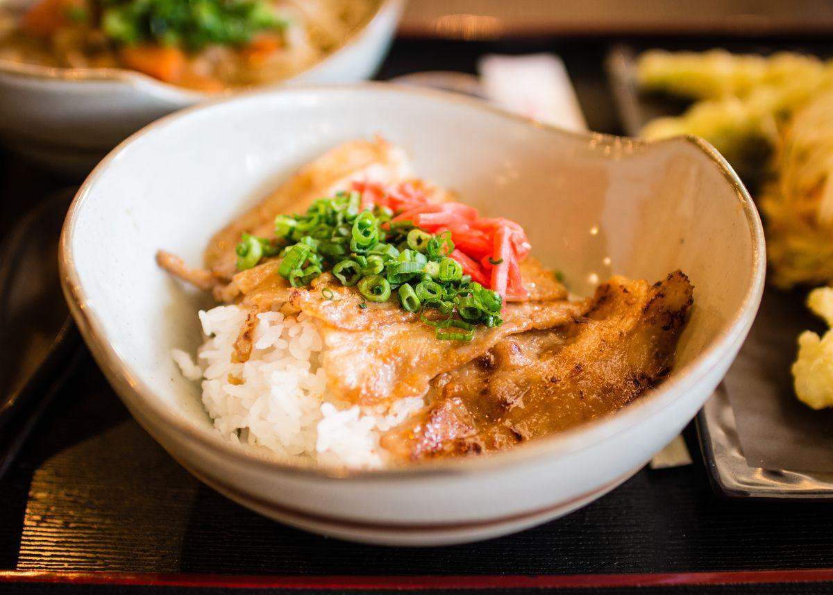Miso garlic pork belly at Cafe Sanuki