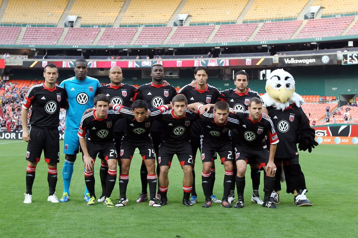 WASHINGTON, DC - MAY 16: Team photo of D.C. United prior to match against the Colorado Rapids at RFK Stadium on May 16, 2012 in Washington, DC.(Photo by Ned Dishman/Getty Images)