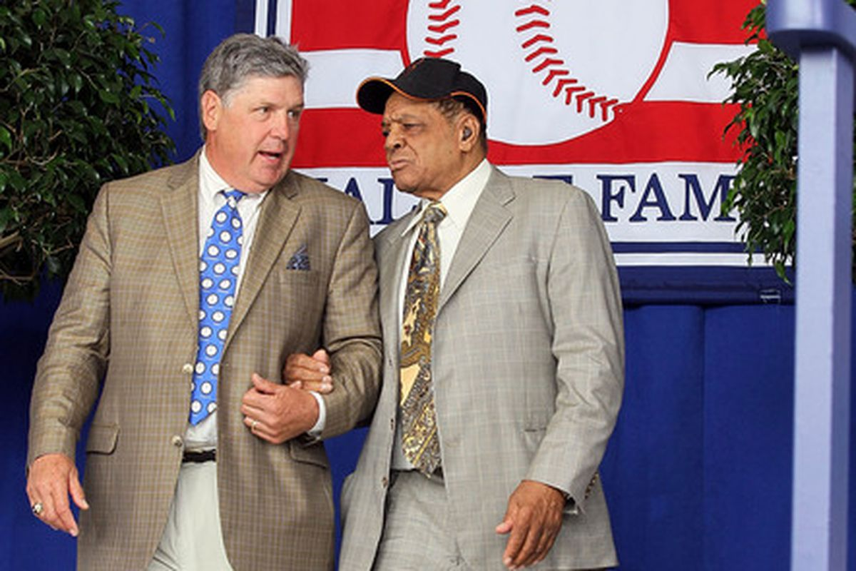 Tom Seaver (left) was in his seventh year in the big leagues back in '73, while Willie Mays was playing in his 22nd and final season.