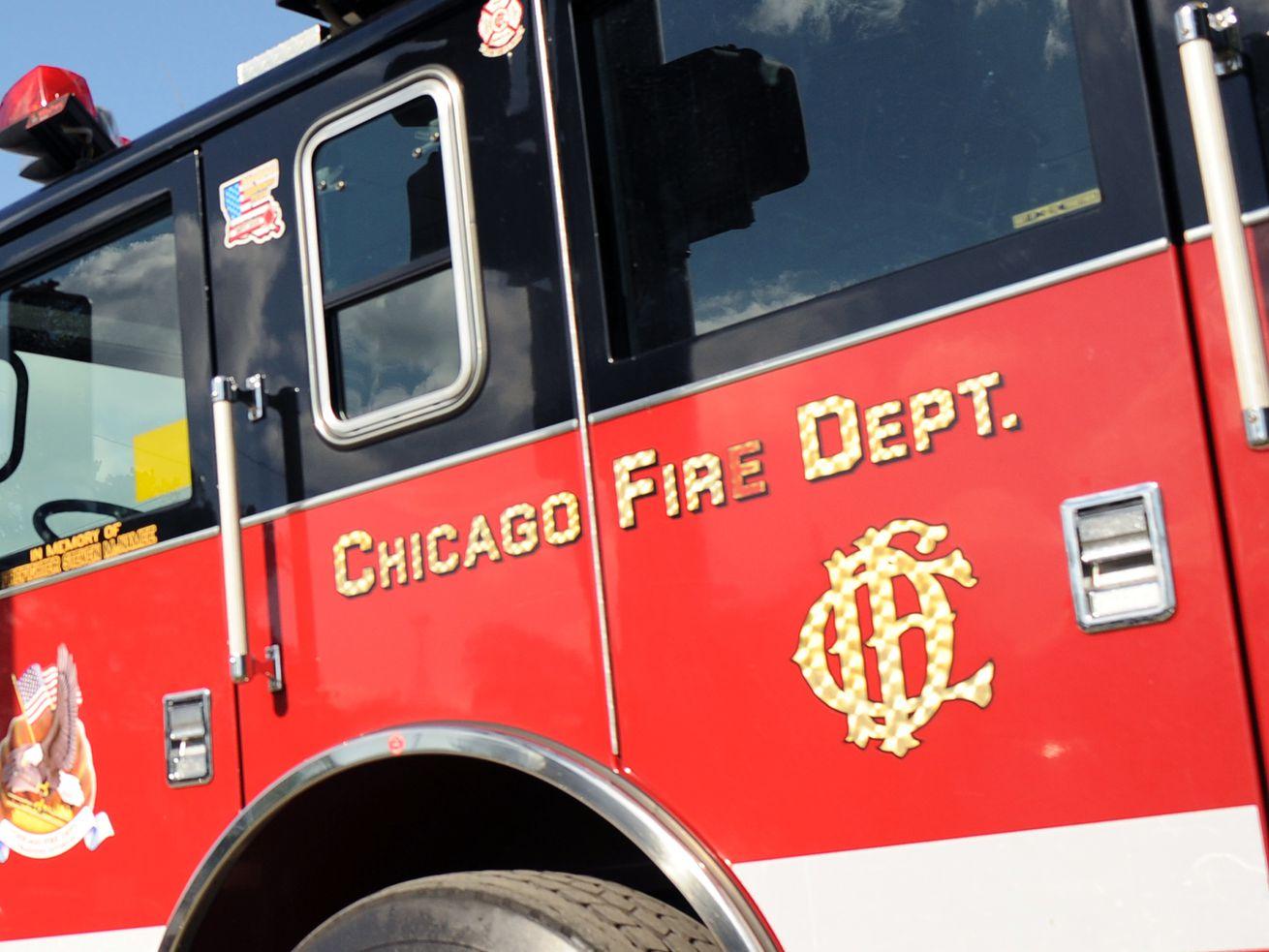 A Chicago Fire Department truck.