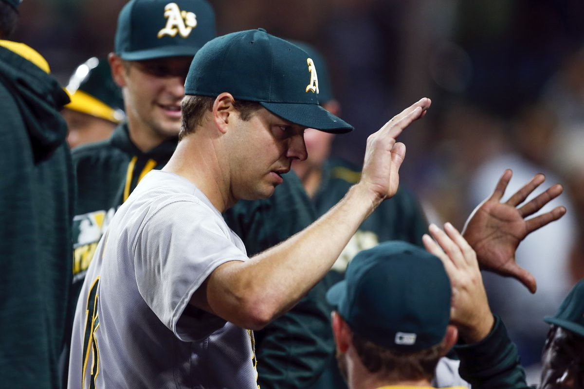 """A """"Rich"""" cup of coffee, with a dash of late-innings offense, energizes Oakland to victory."""