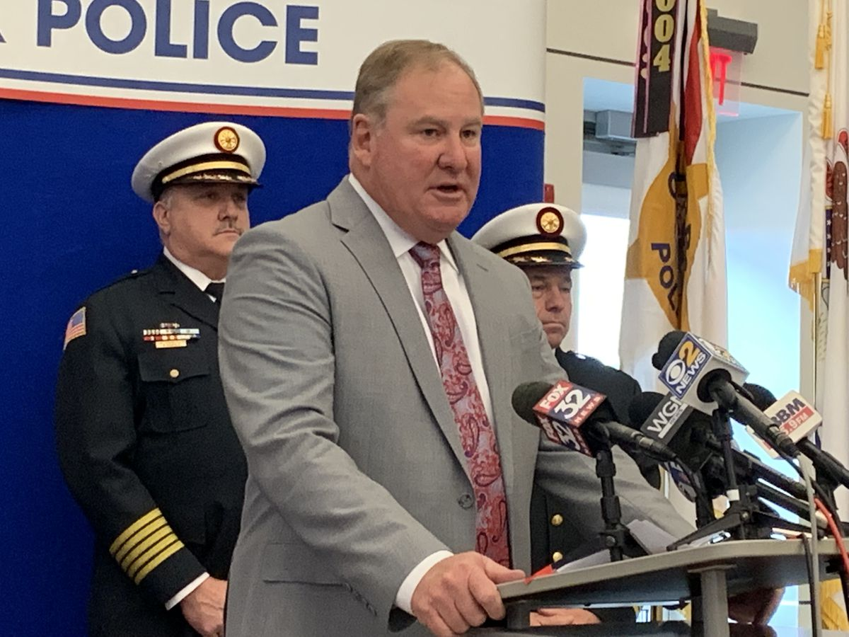 Orland ParkPolice Chief Tim McCarthy announced charges Saturday against retired St. Michael priest Paul Burak in connection with Wednesday's fatal hit-and-run crash in Orland Park.
