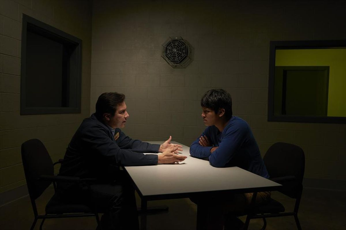 Benito Martinez (left) and Johnny Ortiz play a father and son who find themselves wrapped up in the central crime of American Crime.