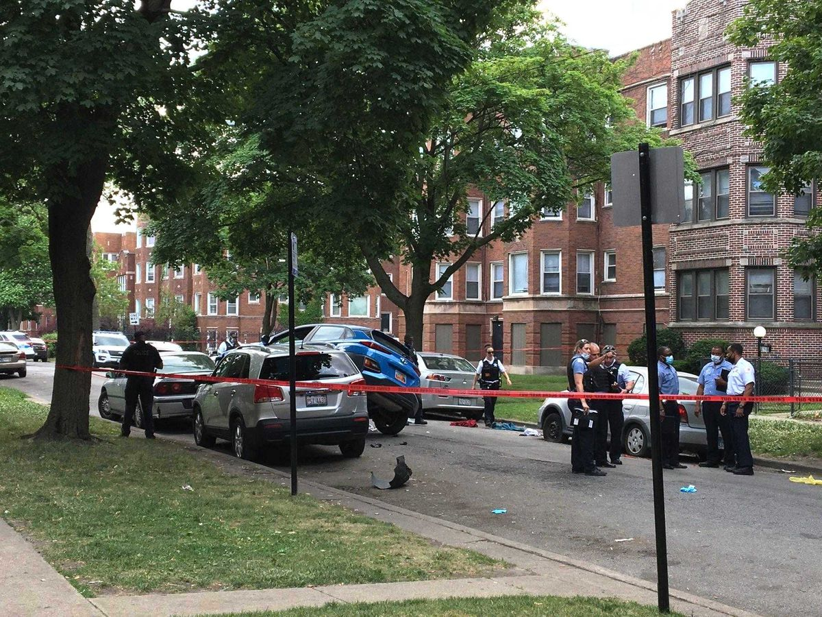 A man died after being shot and crashing a car June 19, 2020, in the 8100 block of South Evans Avenue.