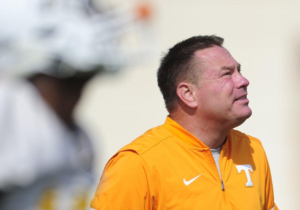NCAA Football: Tennessee Volunteers football practice