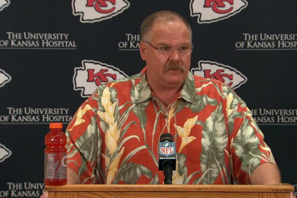 Image result for andy reid hawaiian shirt