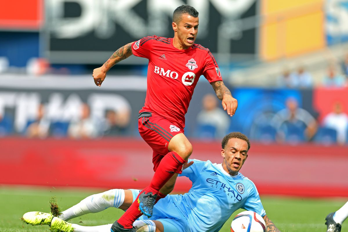 Sebastian Giovinco returns to Yankee Stadium, the last time there he netted a hat trick in nine minutes.