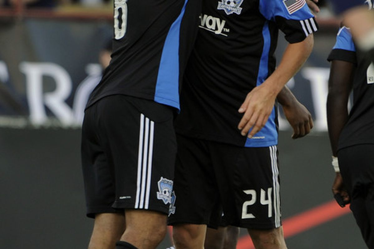 Reunited, and it feels so good. Steven Lenhart returns to partner with Chris Wondolowski at the head of the San Jose Earthquakes attack in the 2012 MLS season.