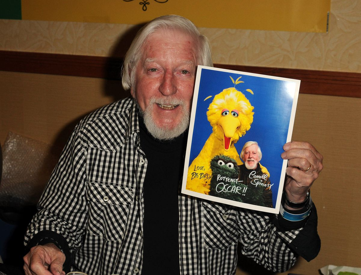Caroll Spinney at a convention in 2012. (Albert L. Ortega/Getty Images)