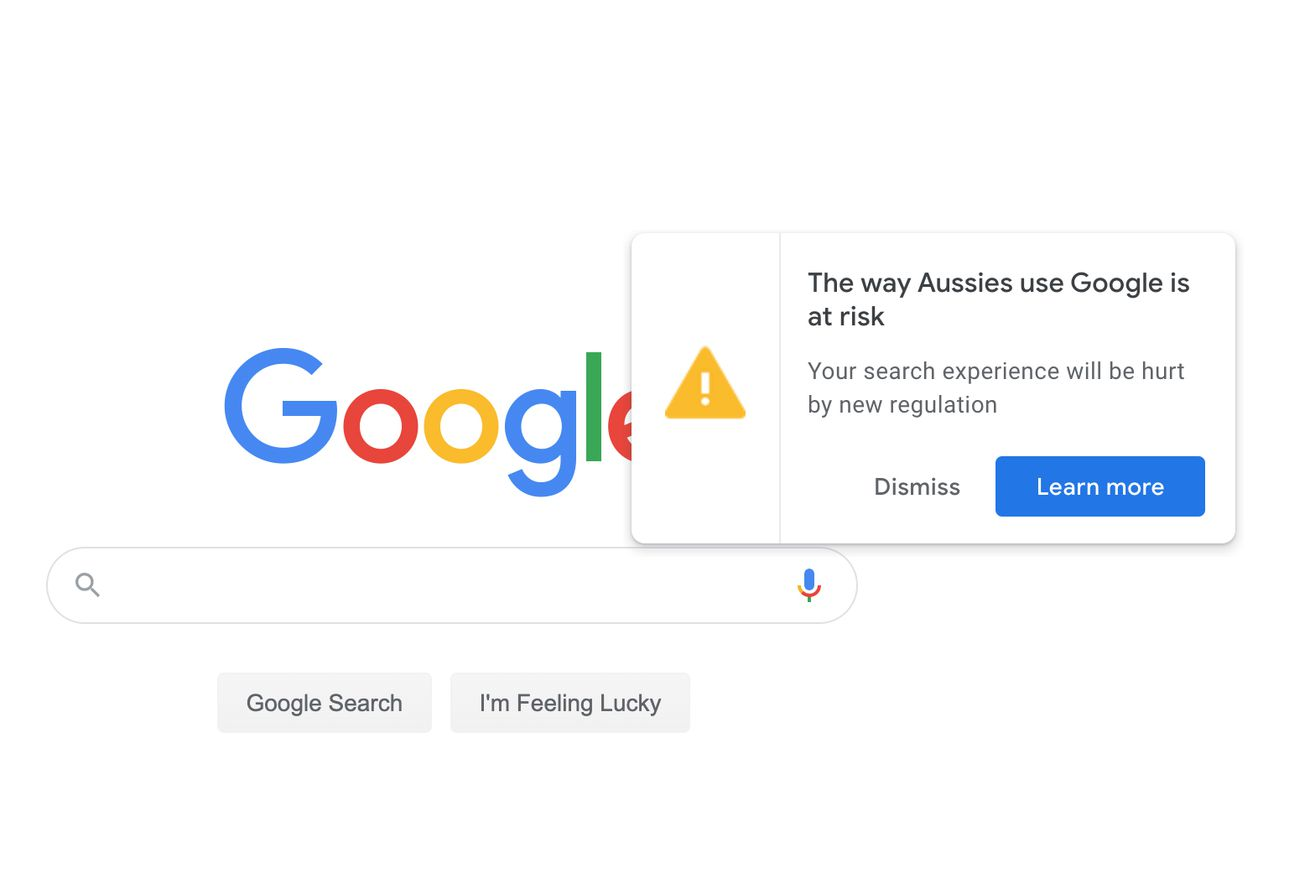 Google lobbies Australian users against plans to make it pay for news