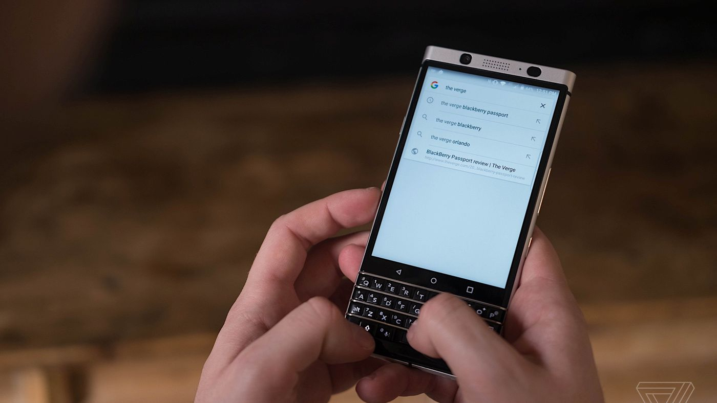 The BlackBerry KeyOne resurrects the keyboard with style - The Verge