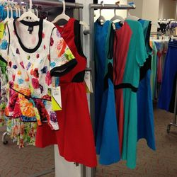 A smattering of the colorblock dresses remain.
