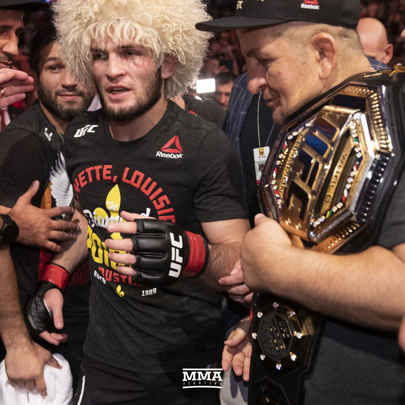Khabib Nurmagomedov Father Awake And Coronavirus Free But His Condition Is Still Serious Mma Fighting