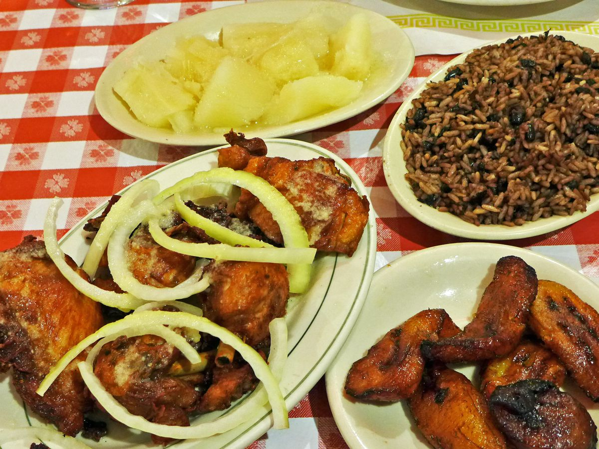 An assortment of Cuban dishes at Rincon Criollo