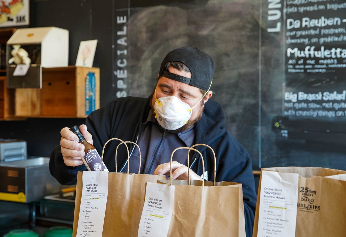 Mike Bancroft, co-owner of Sauce and Bread Kitchen in Edgewater, 6338 N. Clark St.
