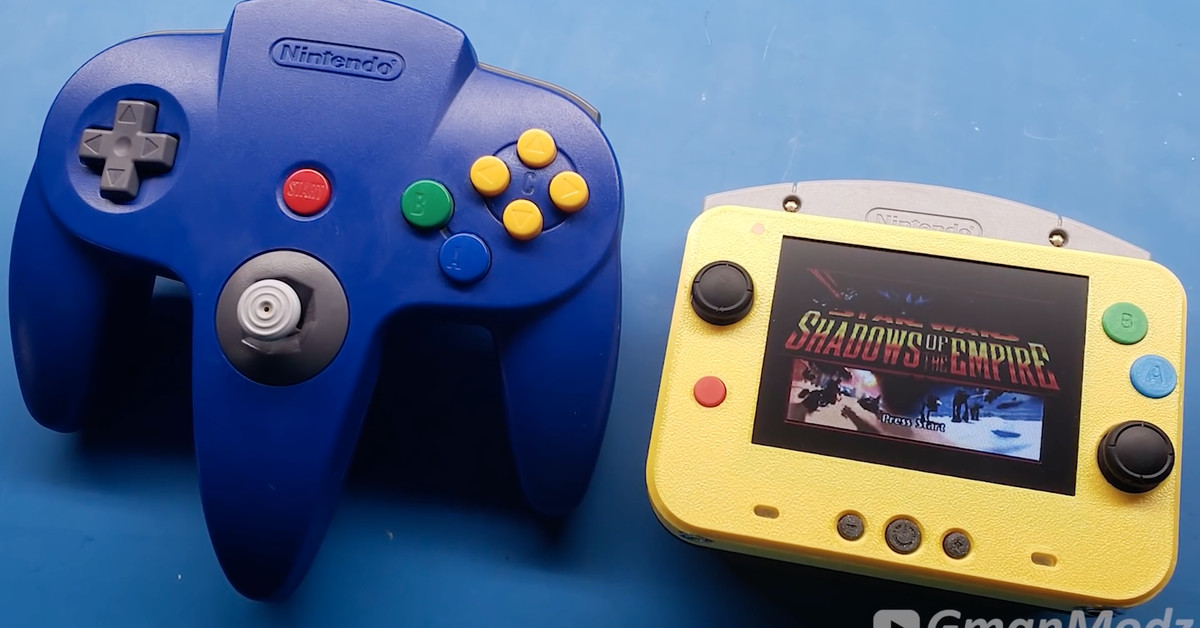 A modder has made a Nintendo 64 that's smaller than the original's controller – The Verge