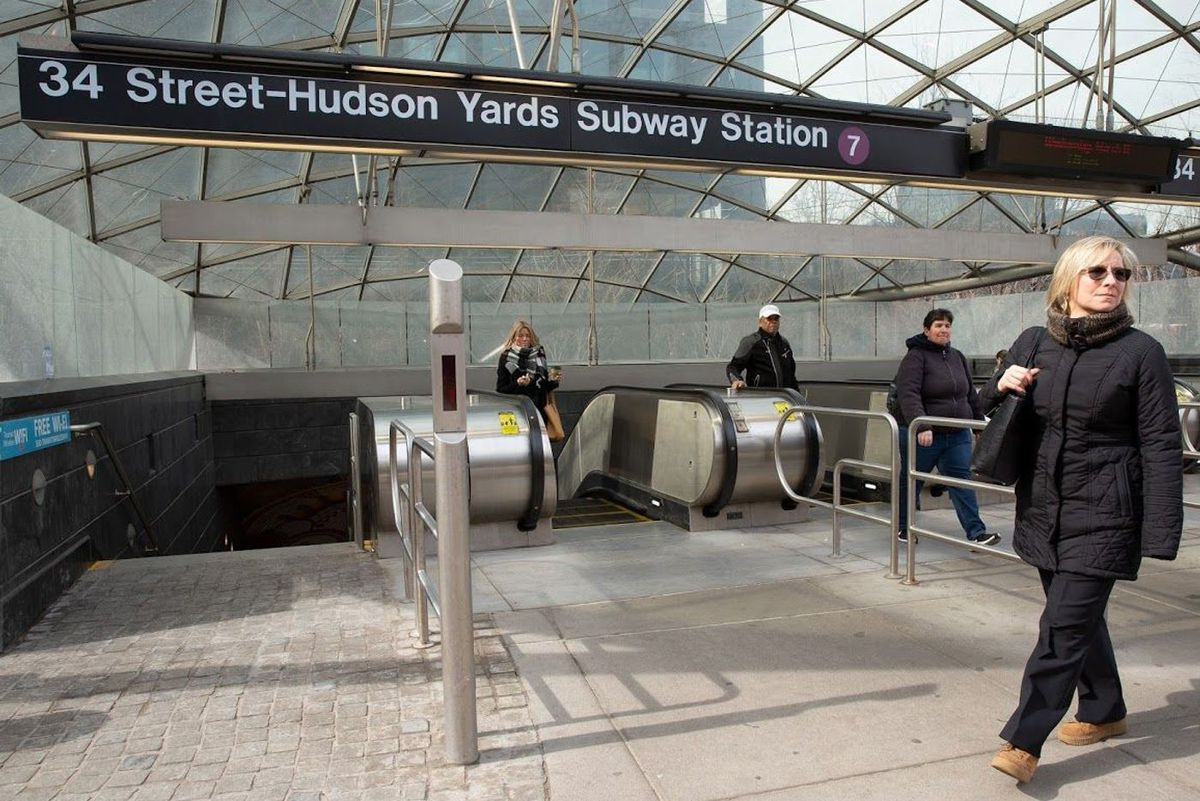 Escalators at the Hudson Yards subway station have been beset with problems since the new 7 train station opened in 2015, March 13, 2019. Photo credit: Ben Fractenberg/THE CITY