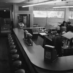 """Diner Interior, Wurts Bros, 1939, From the collections of the Museum of the City of New York [<a href=""""http://collections.mcny.org/C.aspx?VP3=SearchResult_VPage&VBID=24UP1GY7JH7Q&SMLS=1"""">link</a>]"""
