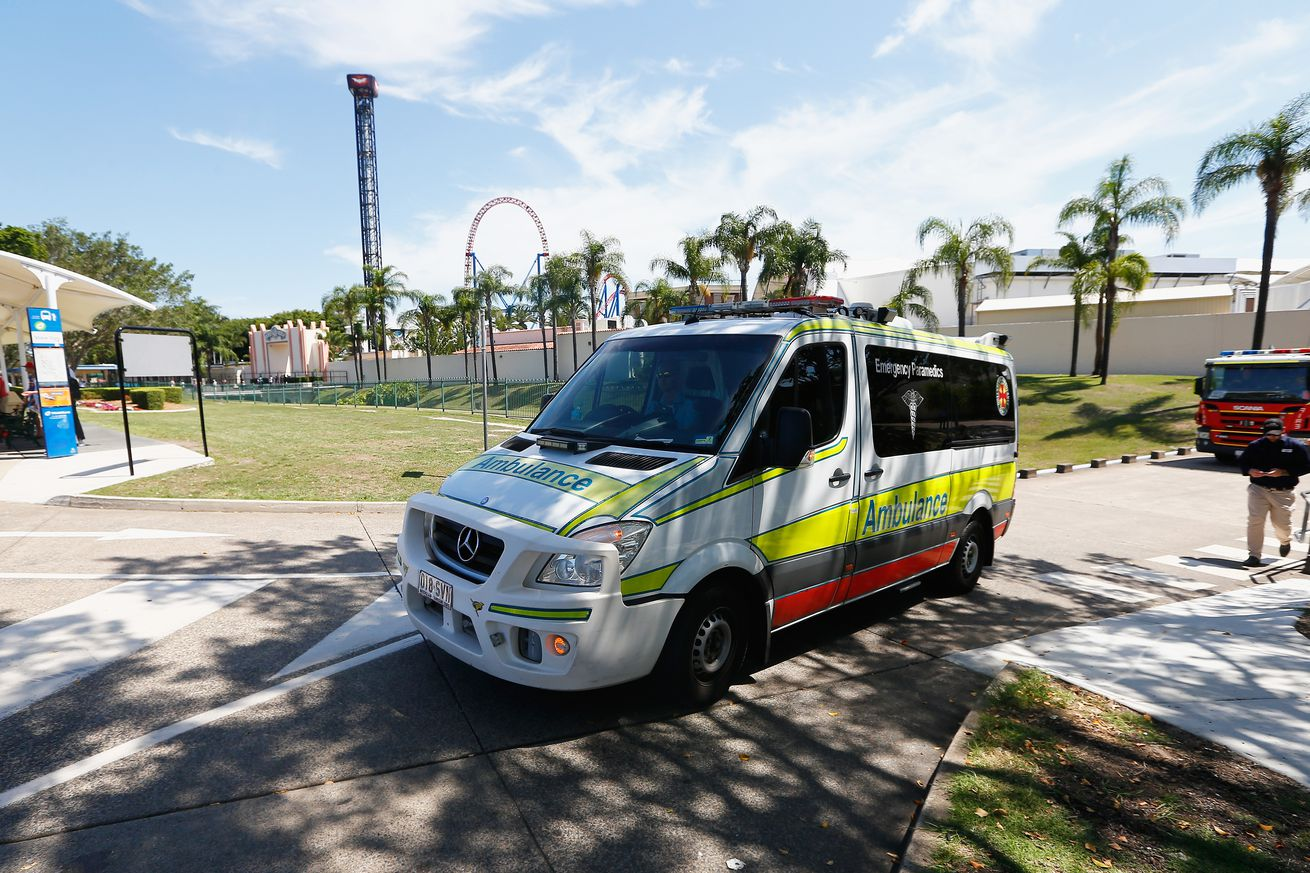 Emergency Services Respond As Patrons Get Stuck On Movie World Rollercoaster