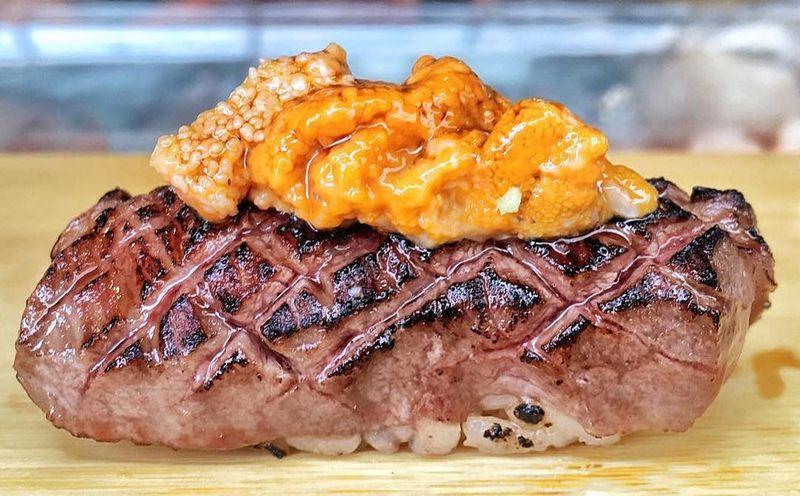 Sushi on Jones' wagyu and uni sushi