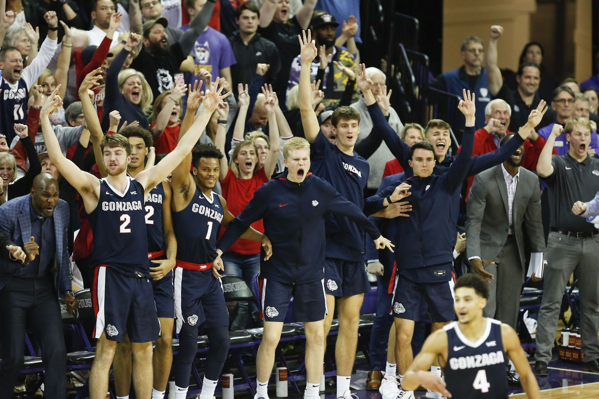 College Basketball Rankings Gonzaga Moves Up To No 6 The