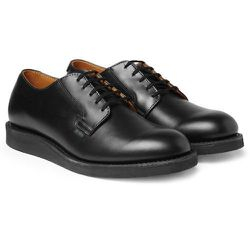 """<strong>Red Wing</strong> No. 101 in Black, <a href=""""http://www.redwingshoes.com/red-wing-shoe-stores/New%20York,%20NY%2010022/40.756444/-73.966992/n"""">$280</a>"""