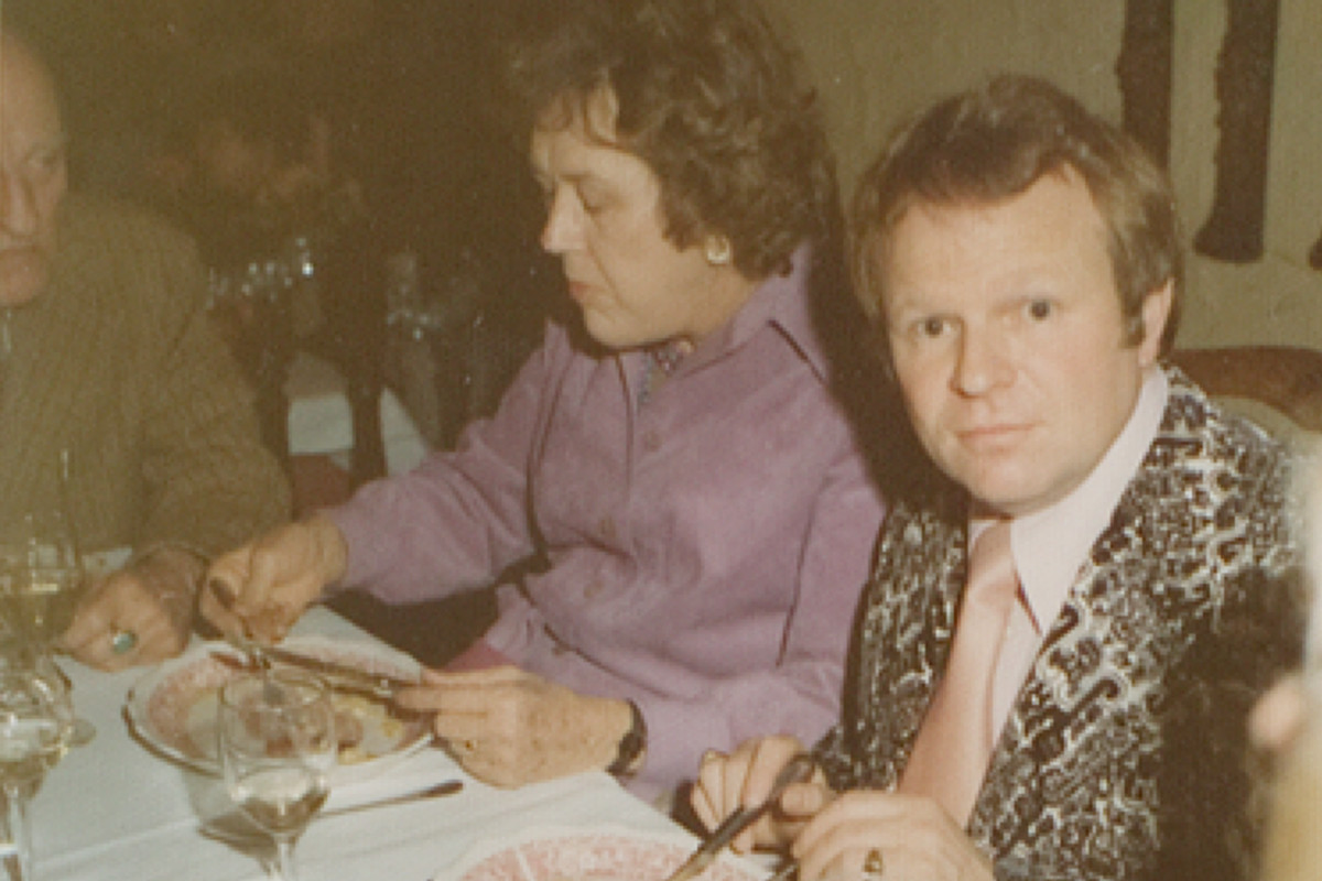 Horst Mager with Julia Child at his French restaurant L'Omelette
