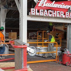 Work at the bleacher bar -