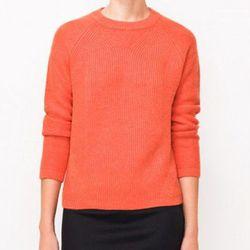 "<b>Paul & Joe Sister</b> League Sweater in Orange, <a href=""http://www.articleand.com/clothing/tops/paul-and-joe-sister-league-sweater-orange.html"">$176</a> at Article&"