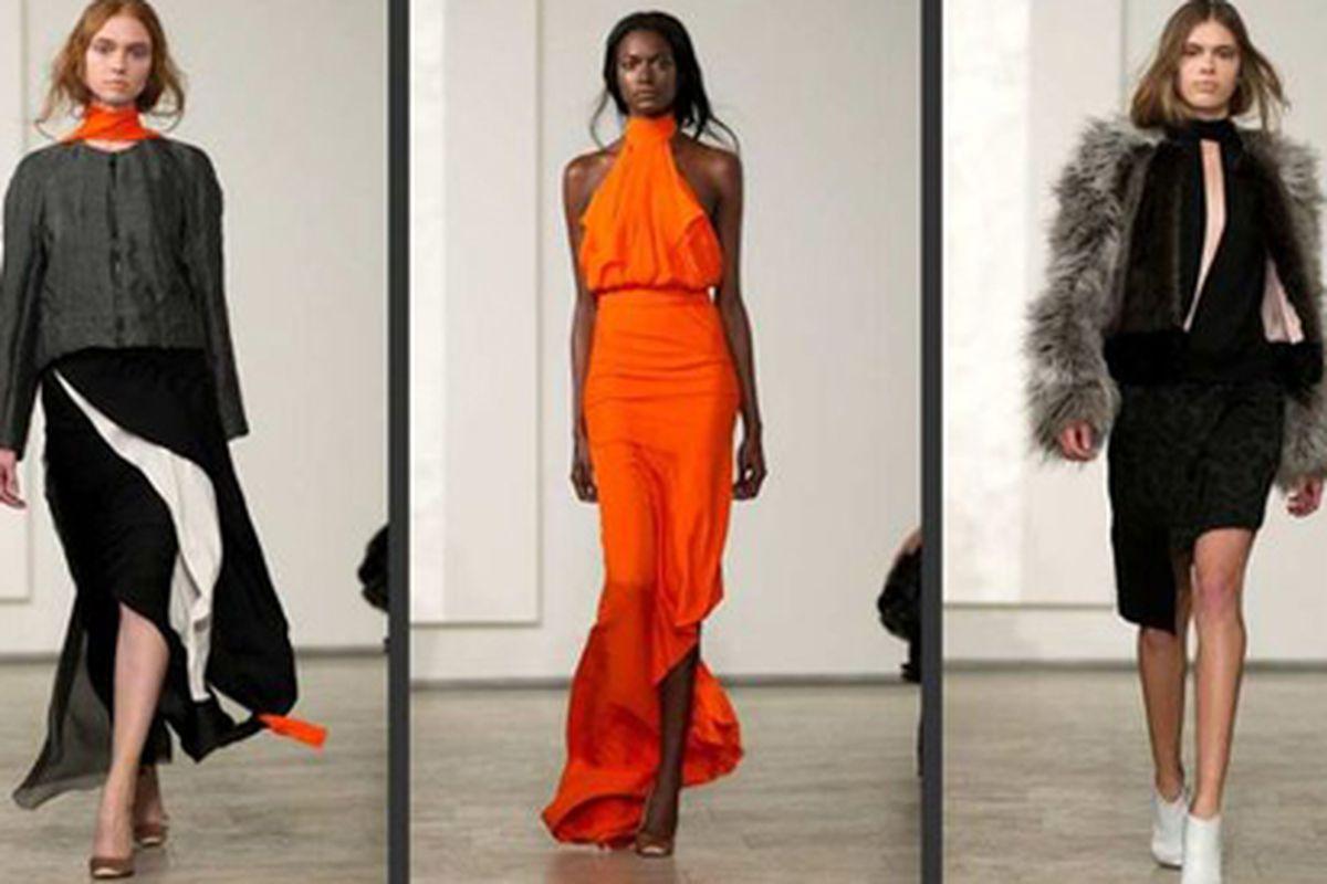 "Juan Carlos Obando fall 2012. Photo via <a href=""http://latimesblogs.latimes.com/alltherage/2012/02/new-york-fashion-week-juan-carlos-obando.html"">All the Rage</a>."