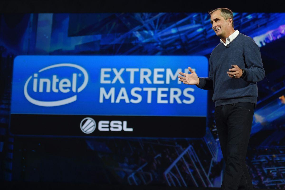 Intel CEO Brian Krzanich delivers a keynote address at CES 2016 at the Venetian Las Vegas in Las Vegas, Nevada.