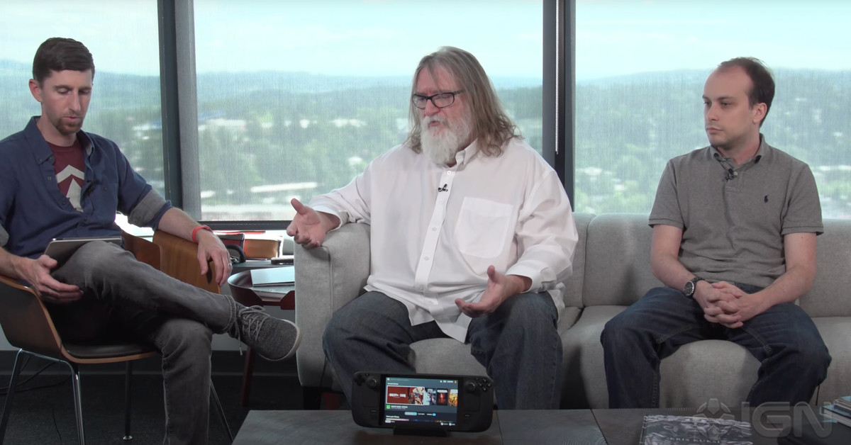 Watch Valve's Gabe Newell explain why the Steam Deck exists - The Verge