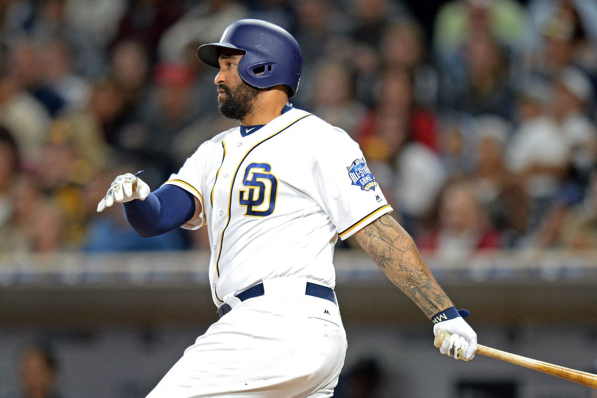 half off 56b7f 2db24 Braves acquire Matt Kemp from Padres in bad contract swap ...