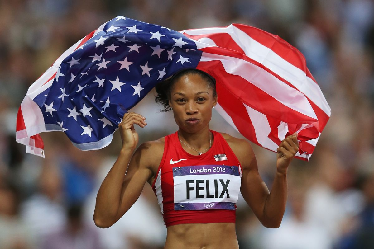 Allyson Felix has been winning plenty of medals for Team USA. According to Wikipedia, Adidas signed her and paid for her college (U$C) so that she never raced in college. Does her medals count for U$C?