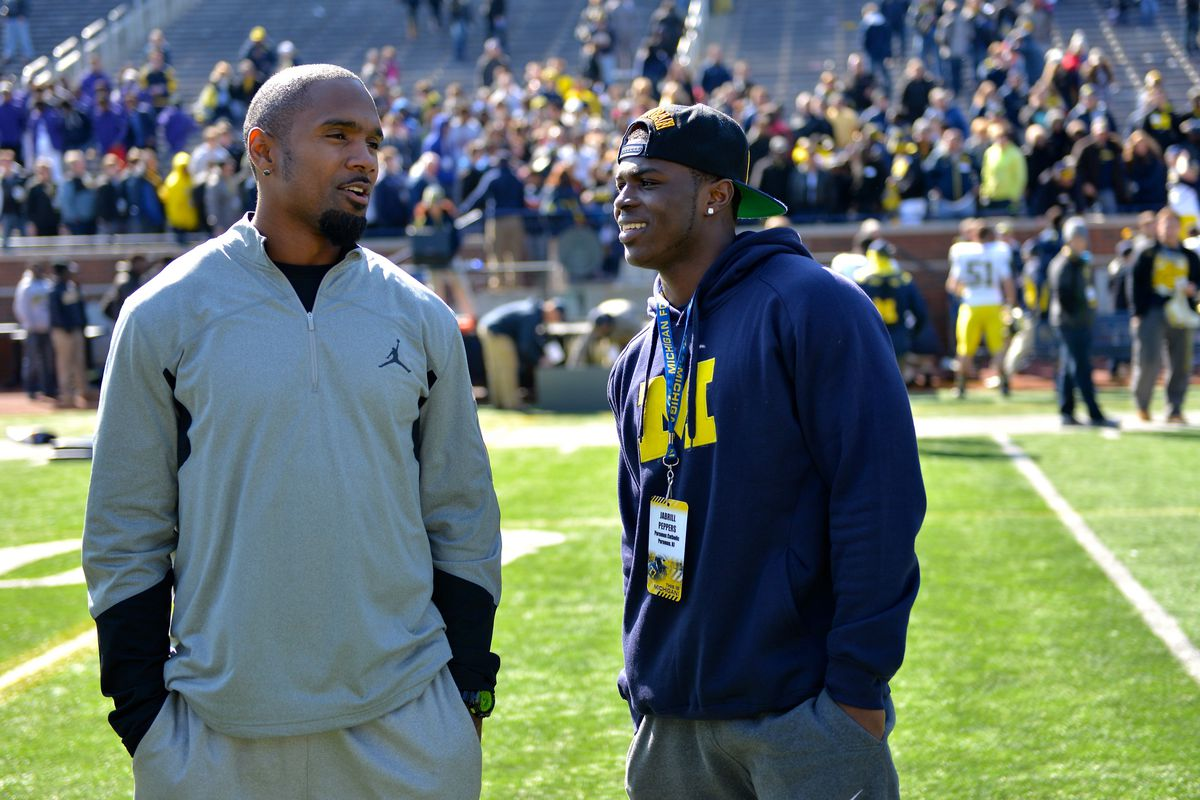 Jabrill Peppers with Charles Woodson