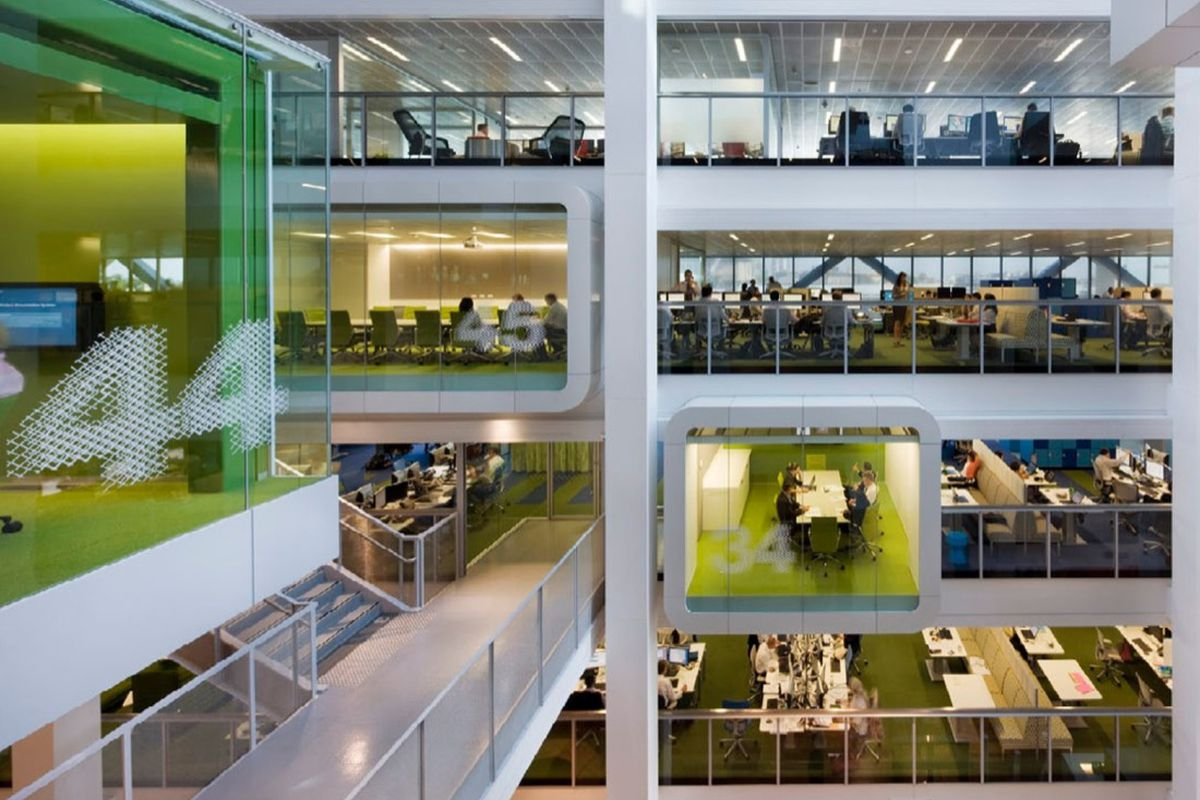 google office cubicles office space how architect clive wilkinson helped google ditch cubicles and embrace glass