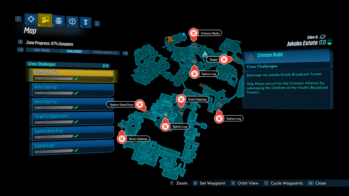 Jokobs Borderlands 3 map