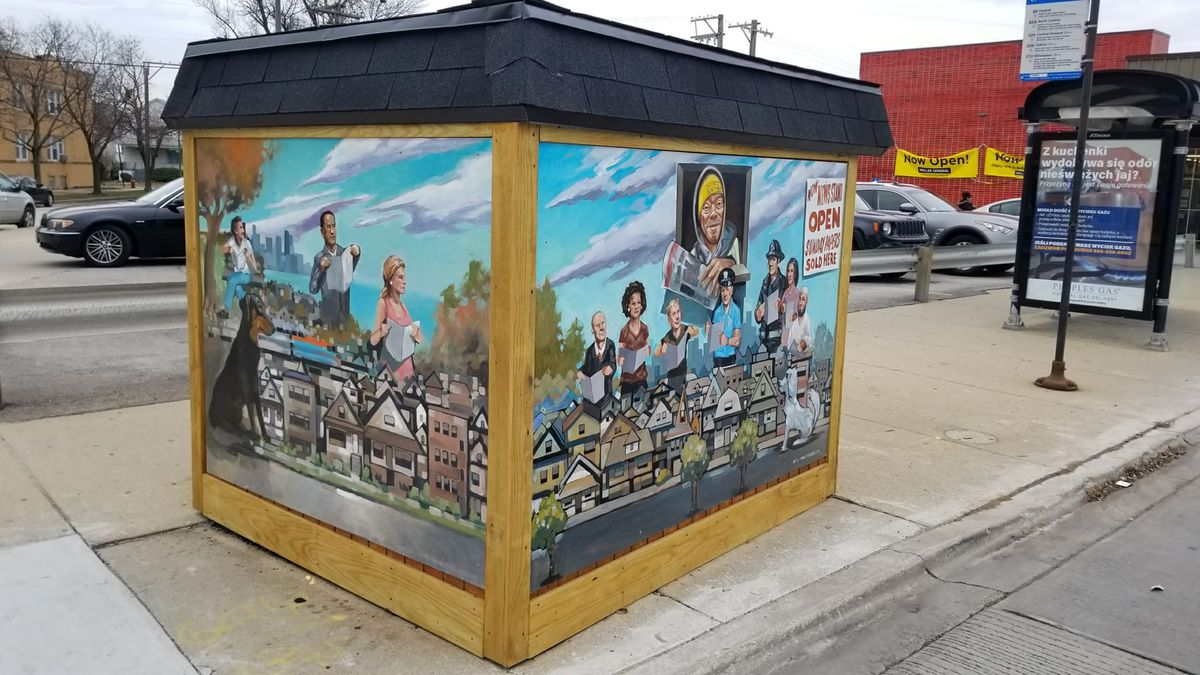 Renovated newsstand at Milwaukee and Central | John Garrido's Facebook page