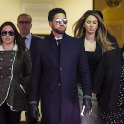 Jussie Smollett leaves court after charges were dropped.   Ashlee Rezin/Sun-Times