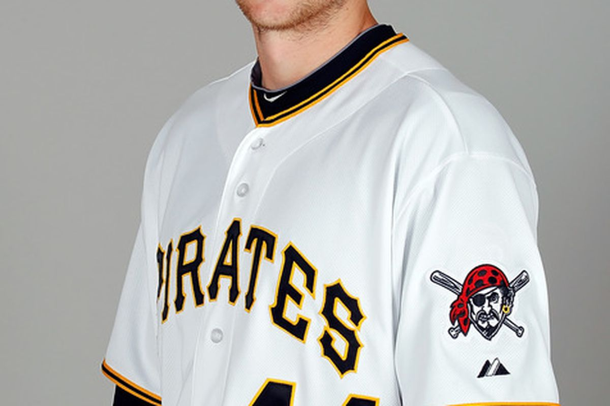 BRADENTON FL - FEBRUARY 20:  Outfielder Alex Presley #44 of the Pittsburgh Pirates poses for a photo during photo day at Pirate City on February 20 2011 in Bradenton Florida.  (Photo by J. Meric/Getty Images)