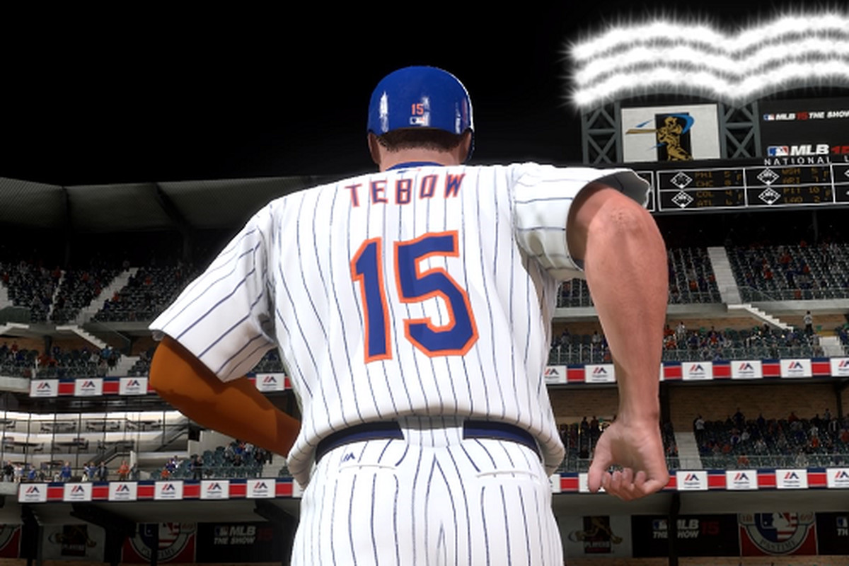 best loved 149a0 f7ed8 Projecting Tim Tebow's Mets career with MLB: The Show ...