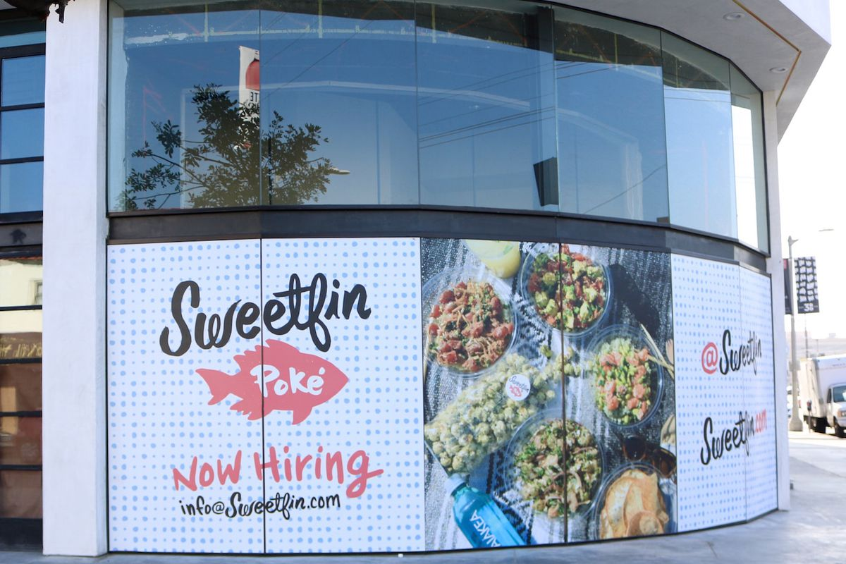 Sweetfin signage along West Third