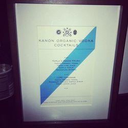 The fashion world's favorite fuel, Kanon Vodka, served custom libations