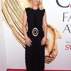 Claire Danes in Calvin Klein Collection and Eva Fehren jewelry