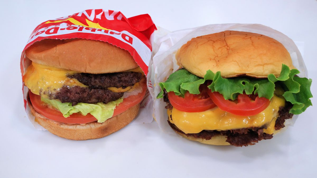 In-N-Out and Shake Shack burgers